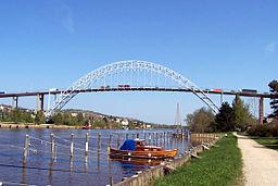 Fredrikstadsbron over Glomma i maj 2006.
