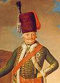 Freiherrn Alexander von Buwinghausen-Wallmerode, Porträt von 1792 im Schloss Solitude, württemberg. Hofmaler Johann Jakob Morff (* 1736; † 28. Dezember 1802 in Stuttgart).jpg