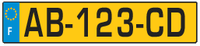 French vehicle registration plate (from 2008)