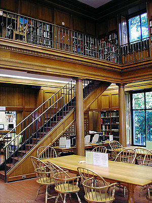 The library of the Frick FIne Arts Building at...