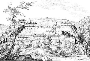 History of the Jews in Switzerland - 1754 drawing of the Jewish cemetery in Endingen by Johann Caspar Ulrich.