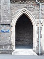 Front doorway of Parish Church of St Philip and St James, Ilfracombe, Sep 2017.jpg