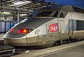 Front of TGV 28076 - 538 at Gare de l'Est, Paris 20131222 1.jpg