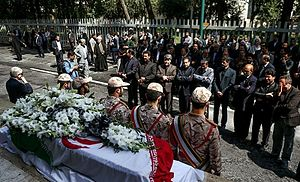 Mohammad-Ali Hosseinzadeh - Hosseinzadeh's funeral in Parliament's building, Tehran