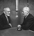 G. J. Ramstedt in the radio studio with Sakari Pälsi, 1948 (37099699575).jpg