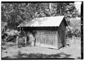 GENERAL VIEW FROM SOUTHWEST - Kenmuir, Corn Crib, Route 613, Trevilians, Louisa County, VA HABS VA,55-TREV.V,8E-2.tif
