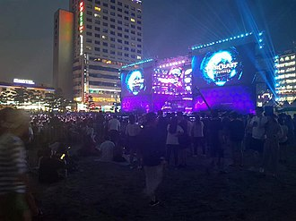 StarCraft: Remastered - Pre-release launch event of Starcraft: Remastered at Gwangalli Beach in Busan