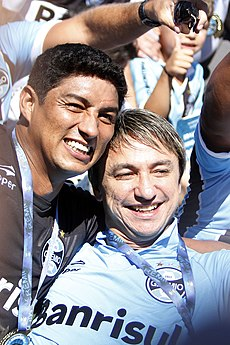 Jardel and Paulo Nunes leaded Grêmio to reach practically all trophies of  90 s. Together they win Copa Libertadores 1995 and Recopa Sudamericana 1996. 22e7faac57245