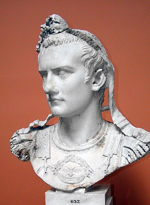 Caligula - Bust of the Emperor Gaius, known as Caligula