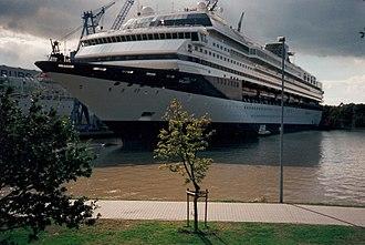 Marella Explorer - Marella Explorer as Galaxy in the Meyer Werft shipyard just prior to her maiden voyage.