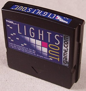 Game.com - The Lights Out cartridge which came bundled with the console