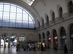 Lighting - Daylight used at the train station Gare de l'Est Paris