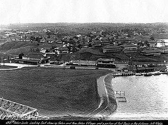 Gatún - Gatun in June 1924 (seen from the Locks)