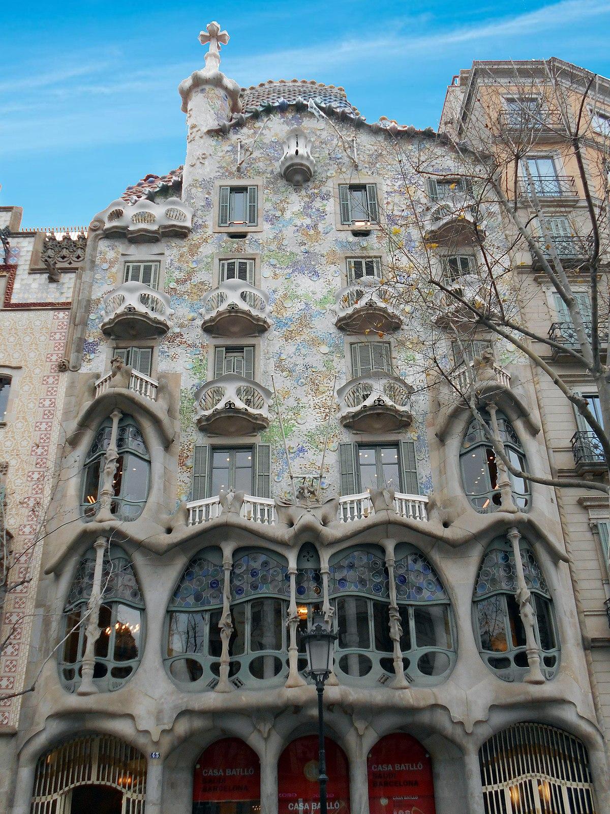 Casa batll wikipedia la enciclopedia libre - Casa modernista barcelona ...