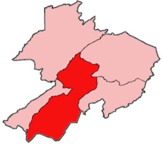 Bopolu District - Location of Bopolu District in Gbarpolu County