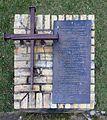 Gedenktafel Kirchstr 9 (Werder) Nagelkreuz von Coventry.jpg