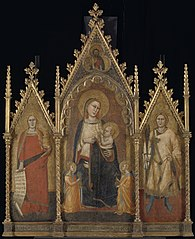 Triptych with the Virgin and Child, and Saints Mary Magdalene and Ansanus