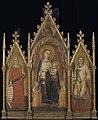 Genaamd Orcagna Andrea di Cione - Drieluik met Maria en kind en de heiligen Maria Magdalena en Ansanus - NK1726 - Rijksmuseum.jpg