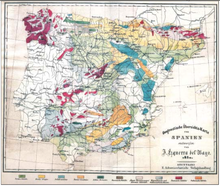 Geological Map Of Spain.Geology Of The Iberian Peninsula Wikipedia