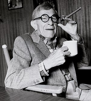 George Burns in 1986.