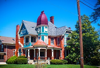 Norwood, Ohio - This 1890 Victorian house at 3904 Floral Avenue was designed by famed architect George Franklin Barber. Barber sold plans for his Victorian houses through a mail-order catalog and there are at least seven other versions of this house still in existence in the United States on the list of George Franklin Barber works. This particular home was one of the first built in Norwood's original Elsmere Subdivision and was used to advertise the subdivision in the 1894 book Norwood, Her Homes And Her People.