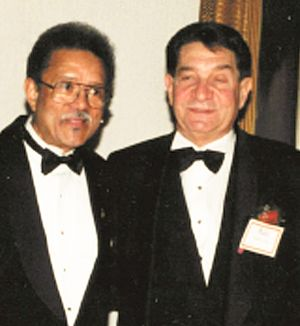 Fred Levin - George Starke and Fred Levin at the law school naming.