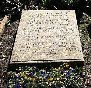 Gerhard Anschütz - His grave in Heidelberg