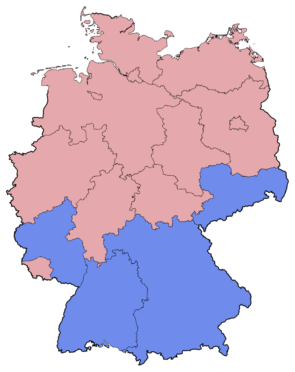 German Federal Election - Party list vote results by state - 2005