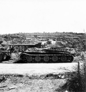 Operation Spring - Image: German tank Tiger II near Vimoutiers