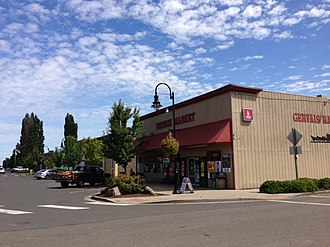 Gervais, Oregon - Fourth Street in downtown Gervais