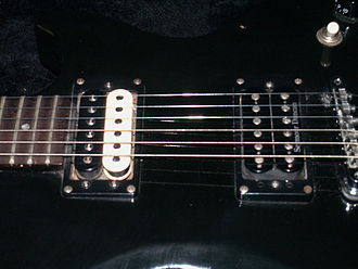Humbucker - Humbuckers on a Gibson Invader.