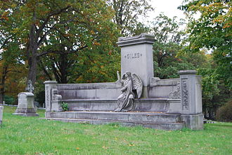 Oakwood Cemetery (Troy, New York) - Image: Giles Memorial Oakwood