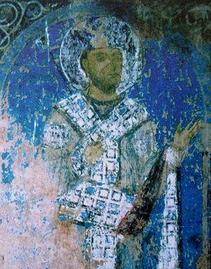 George III of Georgia - George III (fresco from the Kintsvisi Monastery