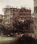 Канал Джованни Антонио, Каналетто - Рио-деи-Мендиканти (фрагмент) - WGA03845.jpg