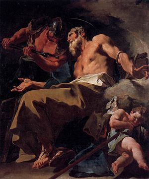 San Stae - Giambattista Pittoni, Torture of St Thomas