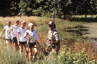 Green Scouting - Maryland Girl Scouts in frog survey