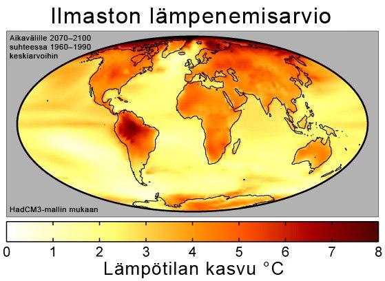 Global Warming Predictions Map-fi