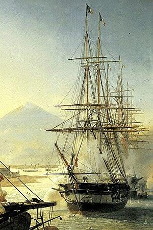 French frigate Gloire (1837) - Image: Gloire expédition du Mexique en 1838