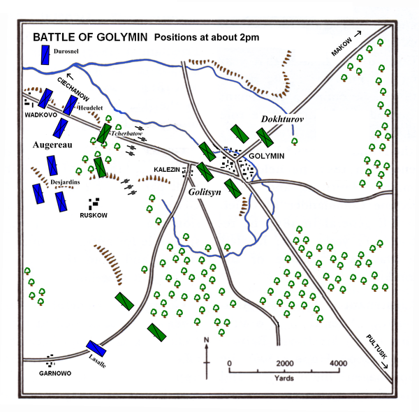 Battle of Golymin about 2pm Golymin 2pm.PNG