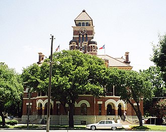 Gonzales, Texas - Gonzales County Courthouse, finished in 1896 to plans by J. Gordon Riely, the master of Texas courthouses