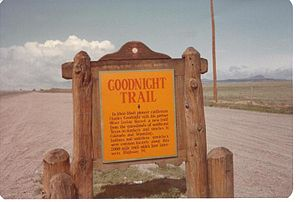 Charles Goodnight - The 2,000-mile Goodnight-Loving Trail extended from the Texas Panhandle and into Colorado as it headed north into Wyoming.