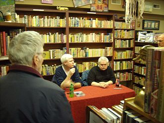 Steven Philip Jones - Jones signing with Edward Gorman at MysteryCat Books in 2010.
