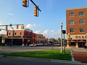East Lansing, Michigan - A photo of Grand River Avenue, Downtown East Lansing