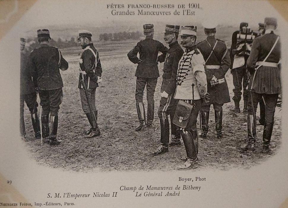 Grandes manoeuvres de l'est 1901 Nicoals II général André
