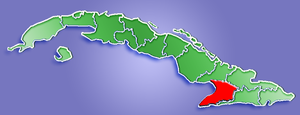 Location of Granma Province in Cuba