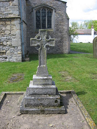 Henry Inman (police commander) - Henry Inman's grave, All Saints churchyard, North Scarle, UK.