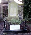 Grave of the poet Robert Fergusson in Canongate Kirk cemetery, Edinburgh.jpg