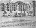 Gravura - Maria José levada pela polícia à forca pelo assassinato de sua mãe (Lisboa, 1849).png