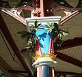 Great Malvern station in Worcestershire ... decorated column. (3341636639).jpg