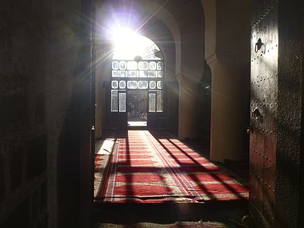 The interior of the Great Mosque of Sana'a, the oldest mosque in Yemen Great Mosque of Sana'a1.jpg